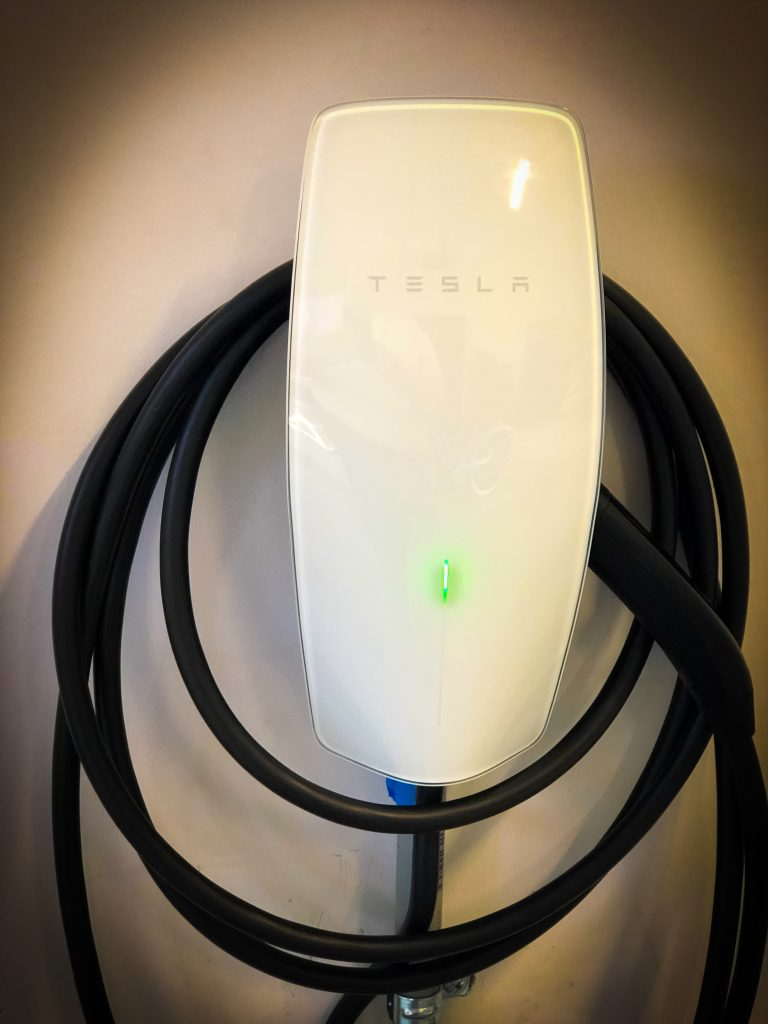 Tesla Wall Connector Charger.